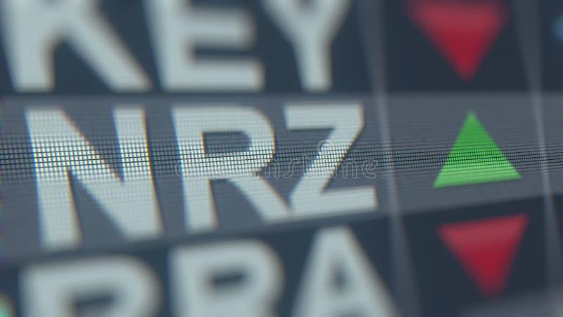 Relógio conservado em estoque RESIDENCIAL NOVO de INVESTIMENTO NRZ, rendição 3D editorial conceptual ilustração royalty free