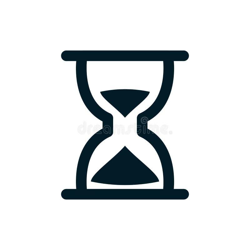 Relógio da areia - ícone simples ilustração do vetor