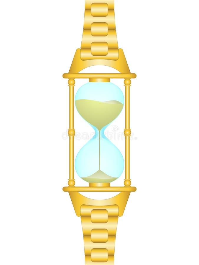 Relógio da areia ilustração royalty free