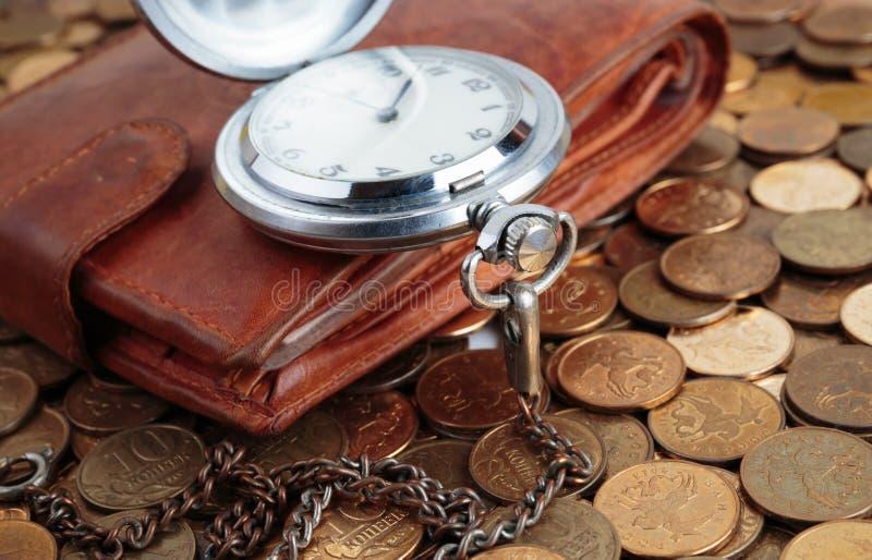 Relógio da carteira e de bolso fotografia de stock royalty free
