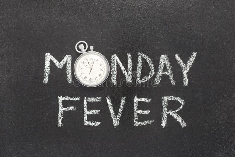 Relógio da febre de segunda-feira imagem de stock