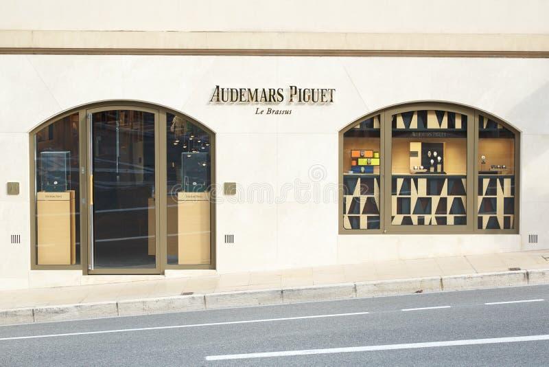 Relógio de Audemars Piguet, loja luxuosa em Monte - Carlo, Mônaco foto de stock royalty free