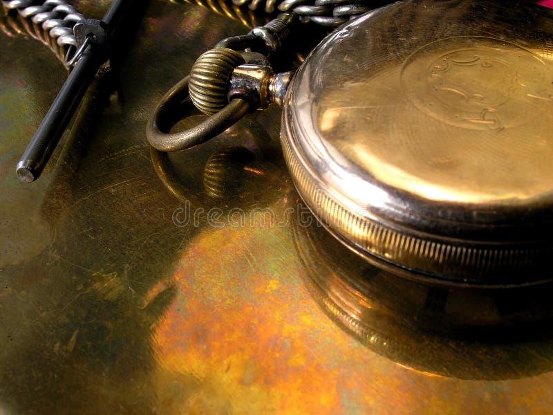 Relógio de bolso do ouro fotos de stock