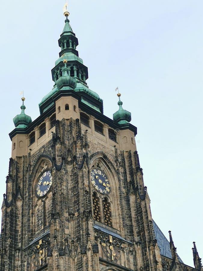 Relógio de Church Praga Czech Dome fotos de stock