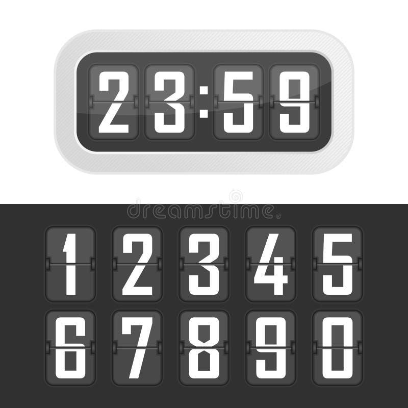 Relógio de ponto da ilustração do vetor ilustração stock
