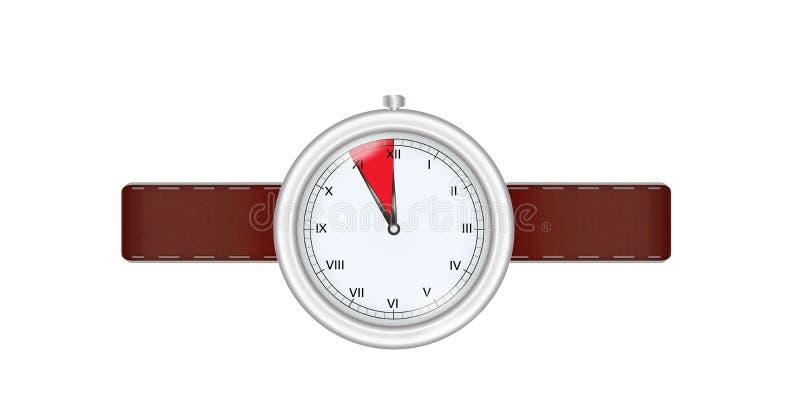 Relógio de prata ilustração stock
