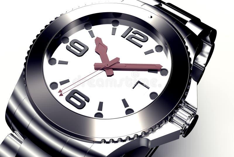 Relógio de pulso bonito isolado no branco ilustração stock