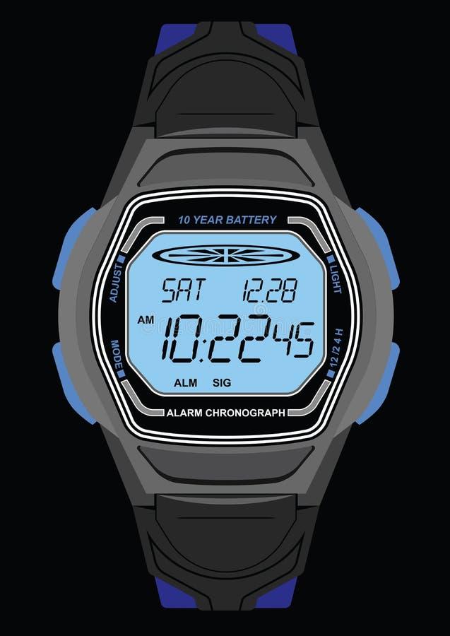 Relógio de pulso de Digitas ilustração stock