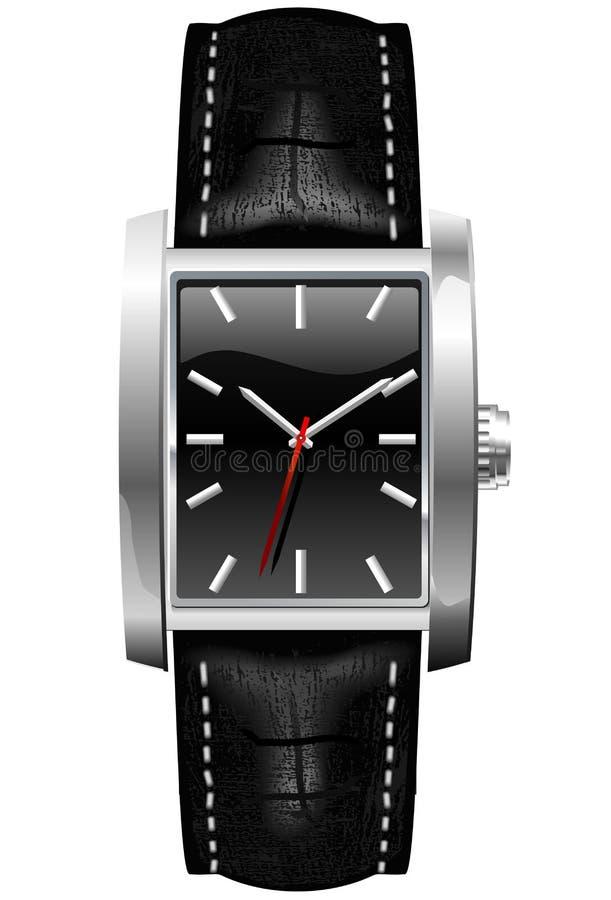 Relógio de pulso dos homens análogos clássicos ilustração stock
