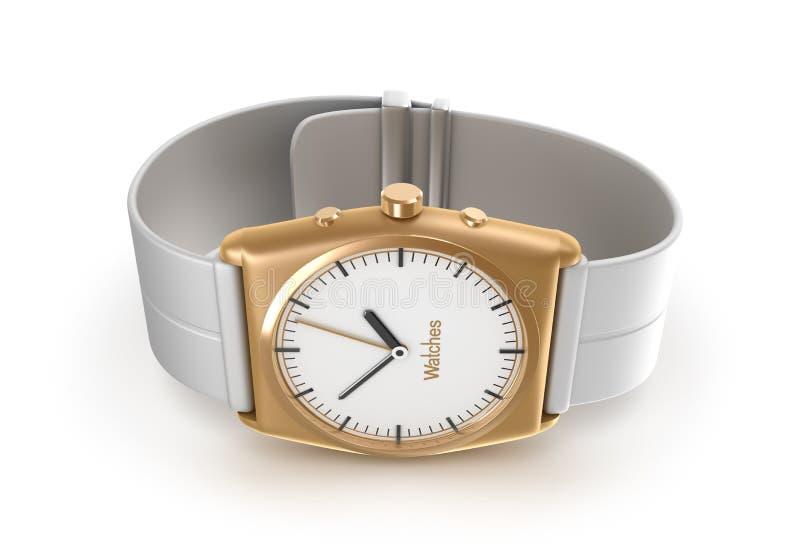 Relógio de pulso dourado. Meus próprios projeto. ilustração royalty free