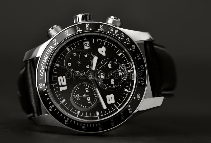 Relógio de pulso elegante foto de stock royalty free