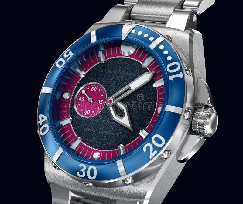 Relógio de pulso mecânico modelo 3d ilustração stock
