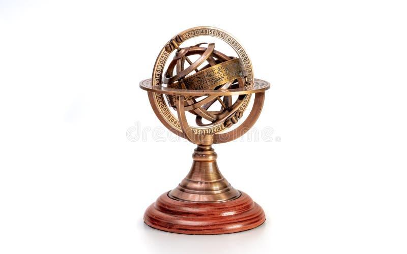 Relógio de sol com um sinal do zodíaco fotos de stock royalty free