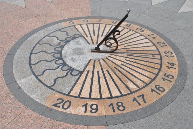 Relógio de sol em Sevastopol, república de Crimeia foto de stock royalty free