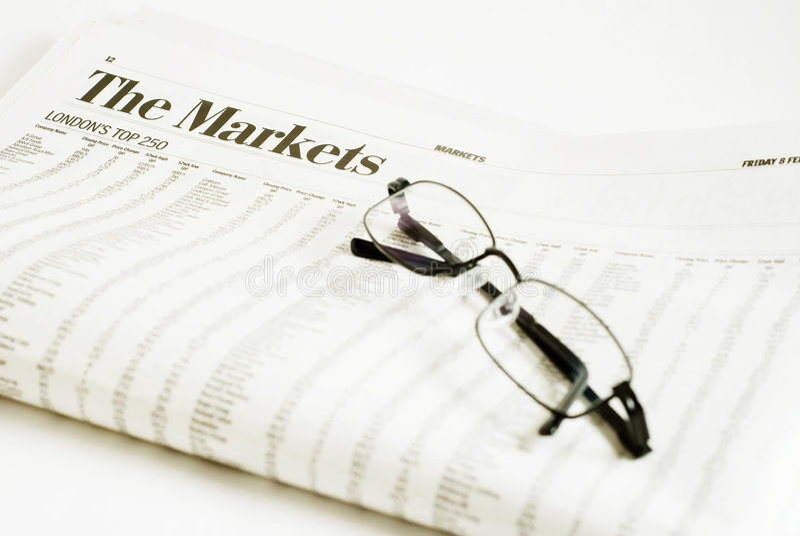 Relógio do mercado imagens de stock