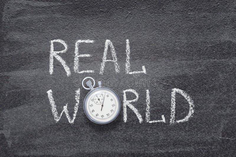 Relógio do mundo real imagens de stock