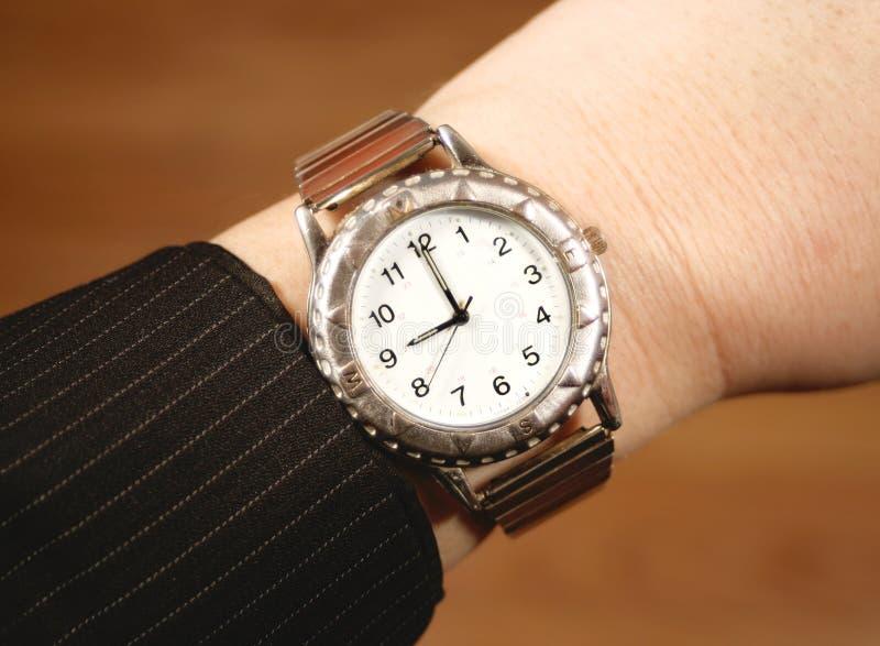 Relógio do negócio fotografia de stock