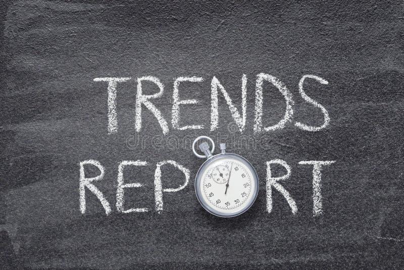 Relógio do relatório das tendências imagens de stock royalty free