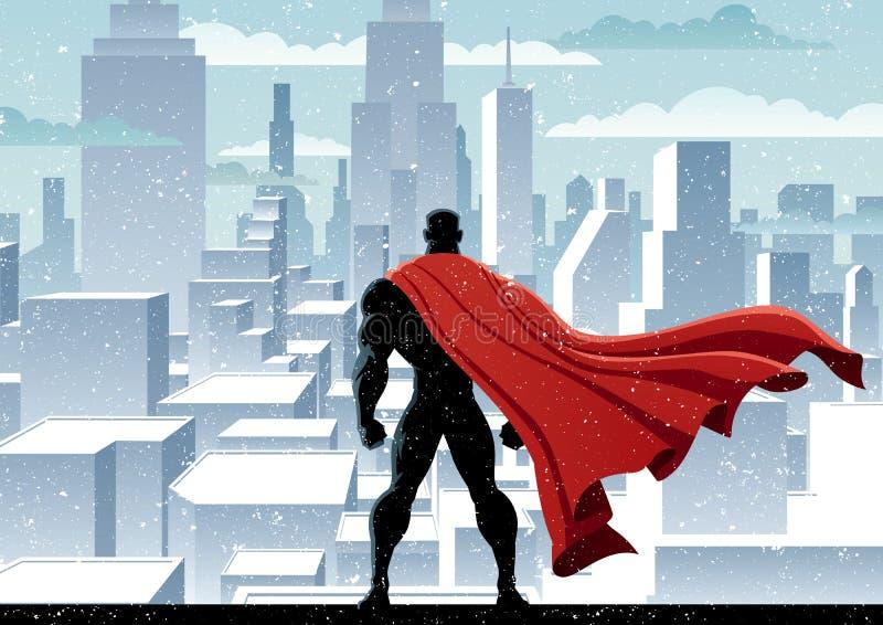 Relógio do super-herói ilustração stock