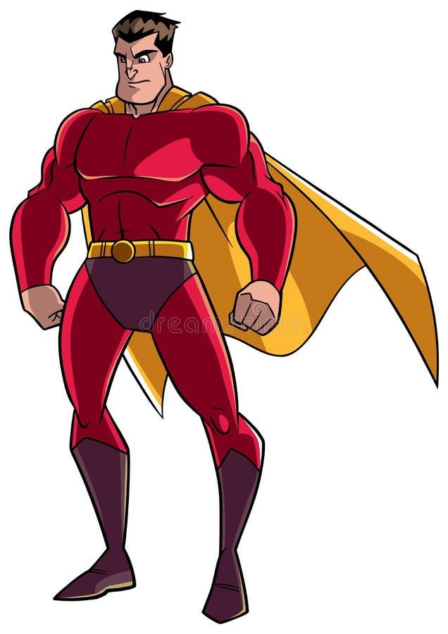 Relógio do super-herói no branco ilustração stock