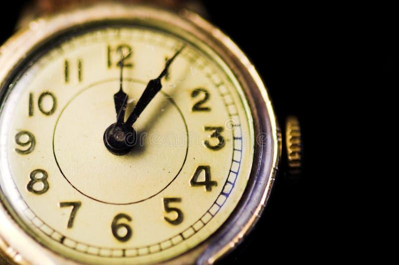 Relógio do vintage foto de stock