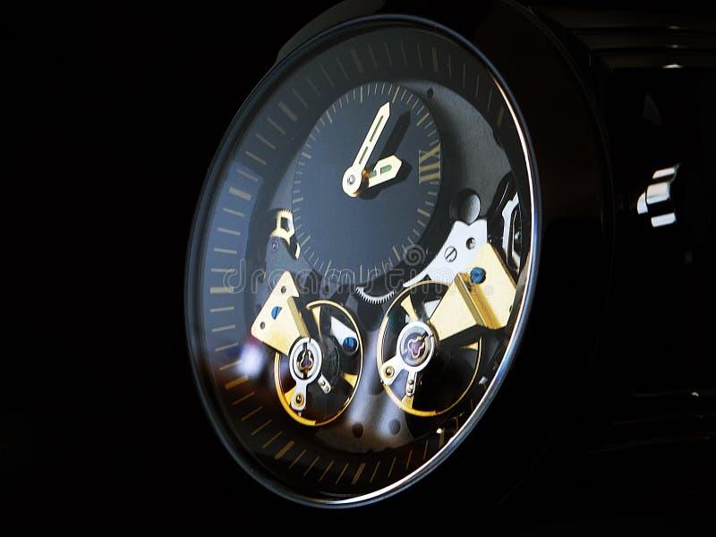 Relógio dobro preto do tambor imagens de stock royalty free