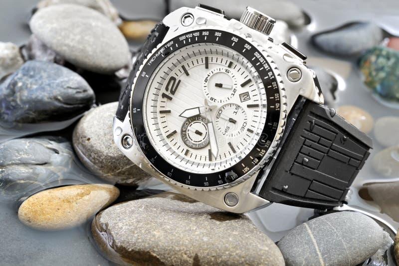 Relógio dos homens fotografia de stock royalty free