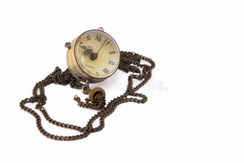 Relógio em uma corrente imagens de stock royalty free