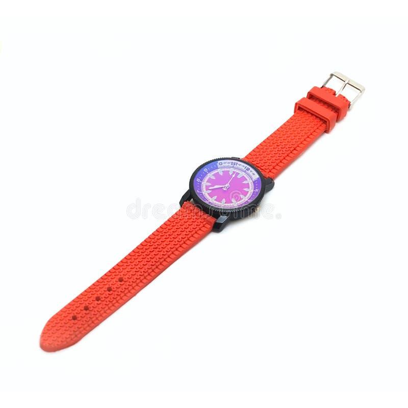 Relógio isolado no branco fotografia de stock