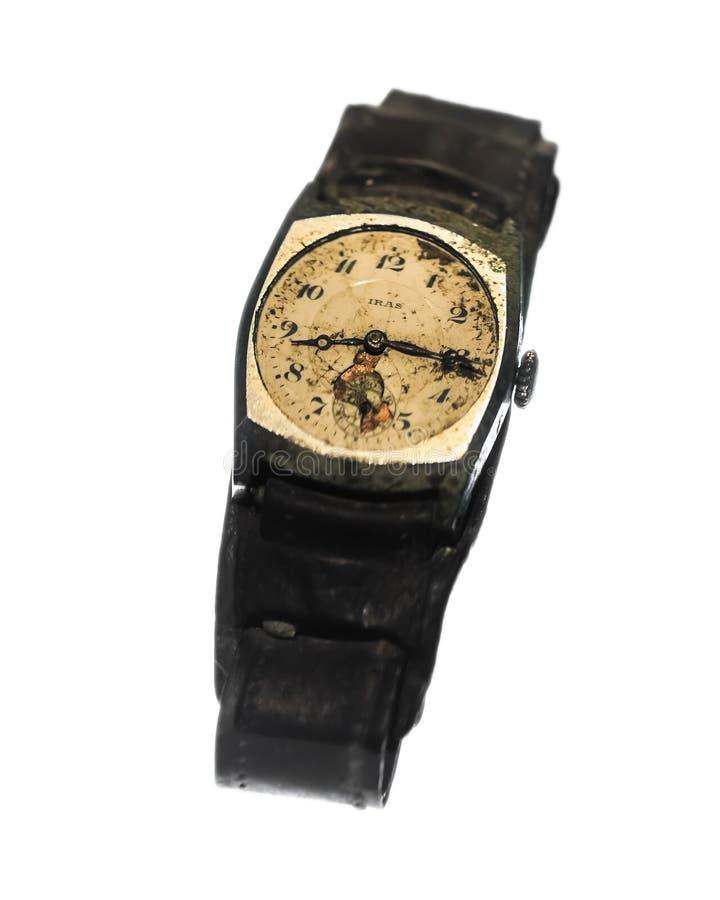 Relógio parado no museu do memorial da paz de Hiroshima foto de stock