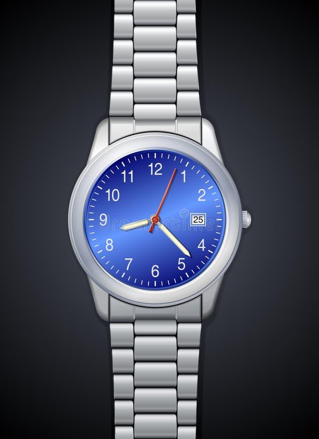 relógio photorealistic Elevado-detalhado ilustração do vetor