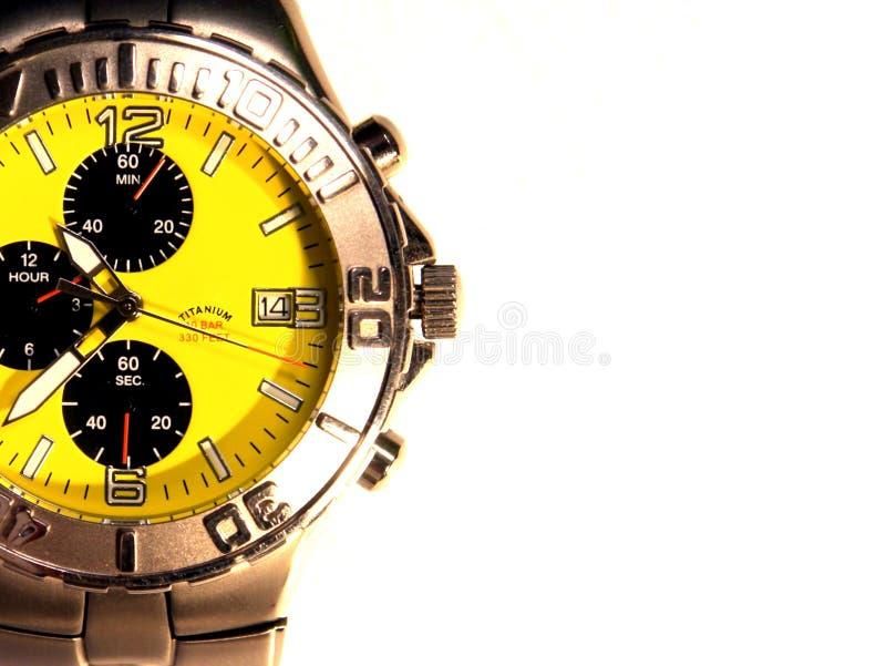 Relógio Titanium do Mens fotografia de stock royalty free