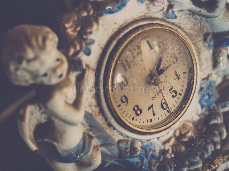 Relógio velho da porcelana fotografia de stock royalty free