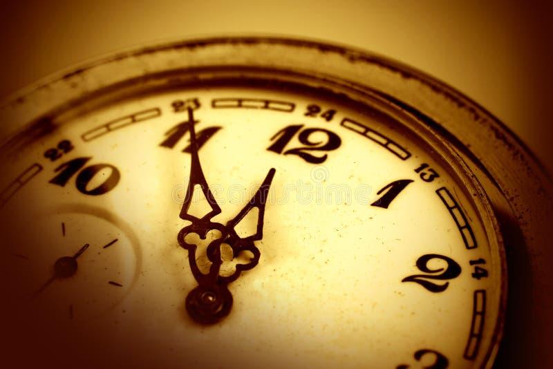 Relógio velho mecânico imagens de stock