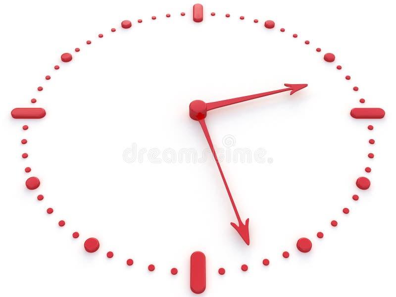 Relógio vermelho fotografia de stock
