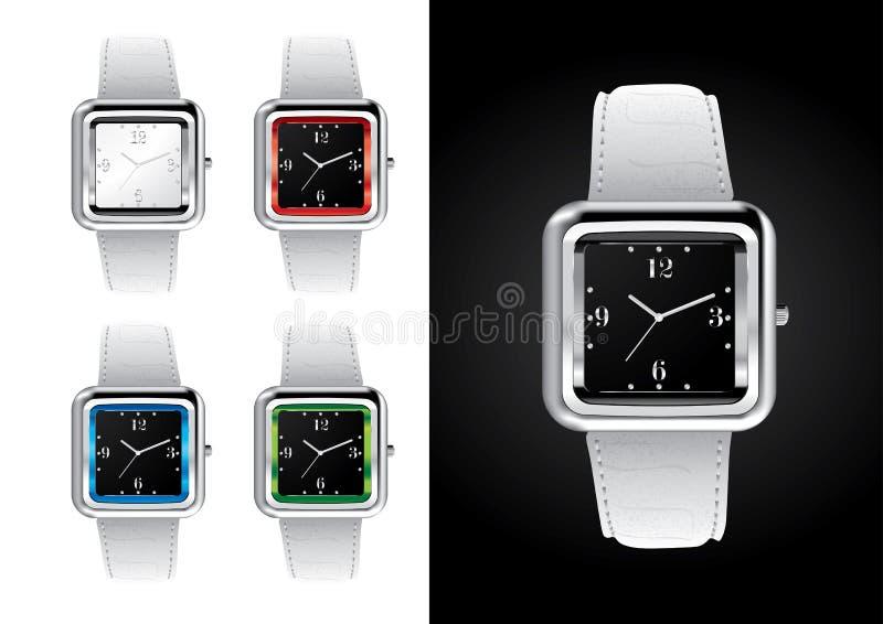 Relógios de pulso - ilustração do vetor ilustração stock