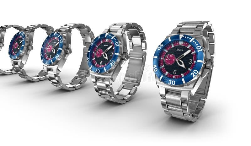 Relógios de pulso mecânicos ilustração royalty free