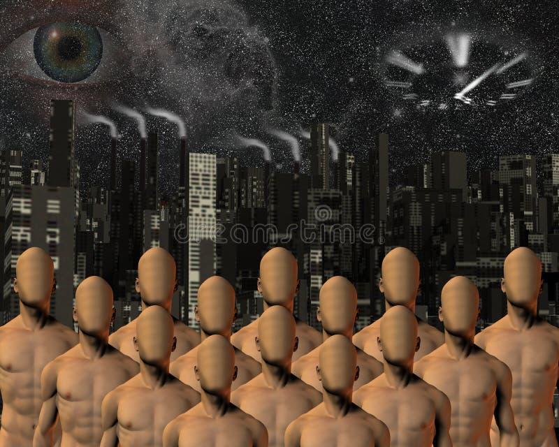 Relógios do olho sobre massas ilustração do vetor