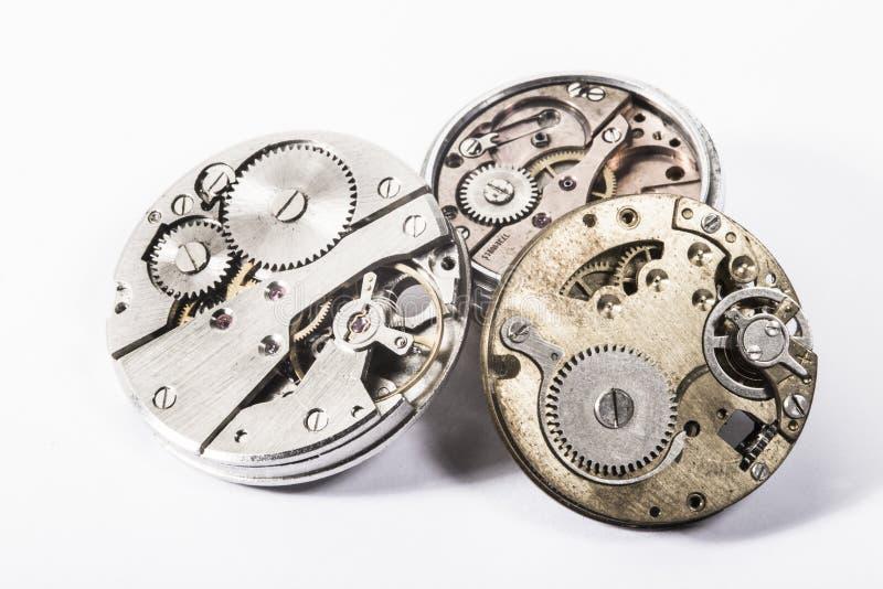 Relógios e engrenagens imagem de stock royalty free