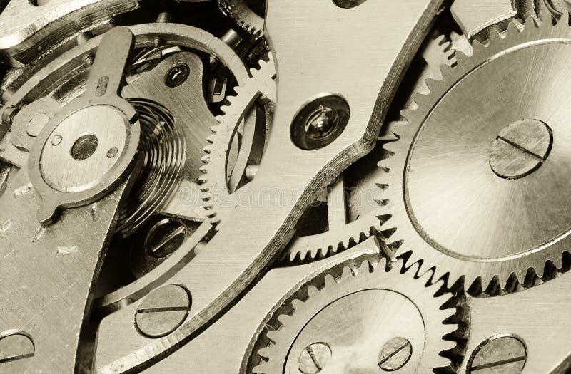 Relógios internos do mecanismo imagem de stock