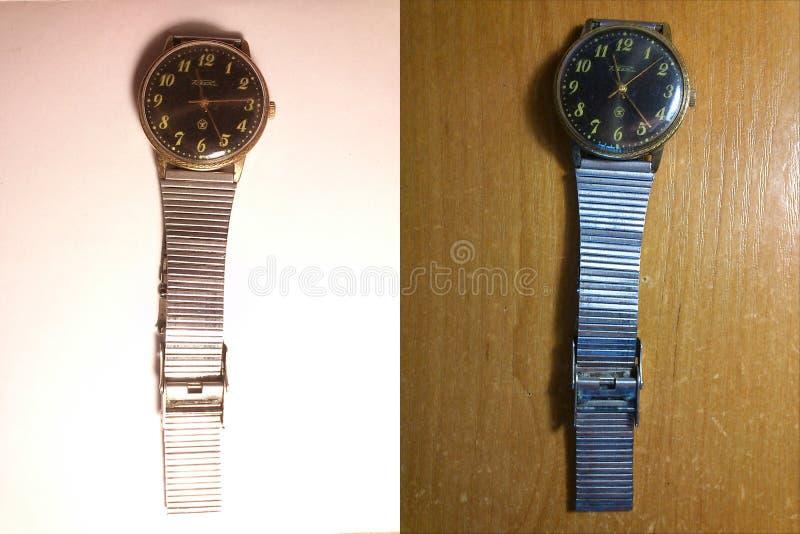 Relógios mecânicos imagens de stock