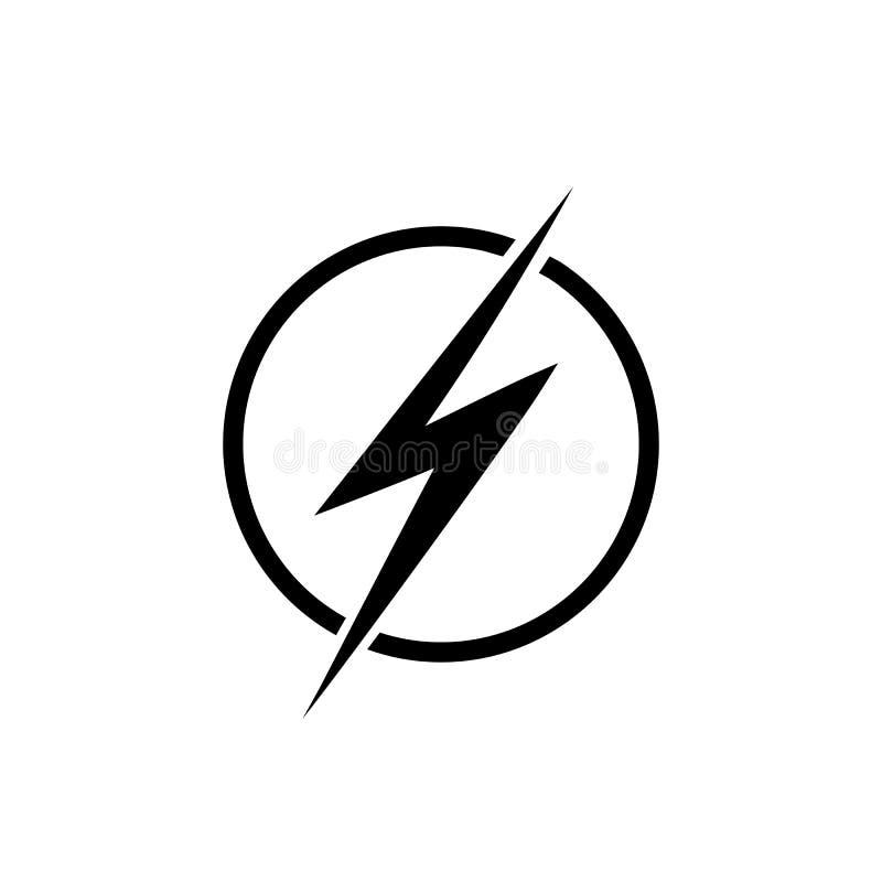 Rel?mpago, elemento del dise?o del logotipo del vector de la energ?a el?ctrica Energ?a y concepto del s?mbolo de la electricidad  ilustración del vector