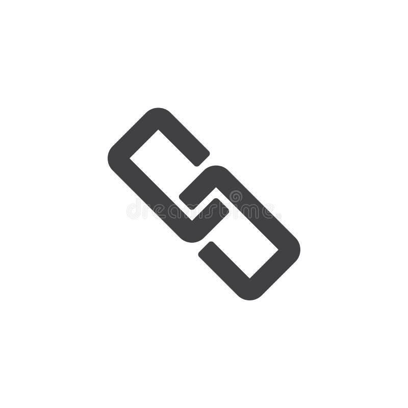 Relação, ícone do vetor da corrente ilustração do vetor