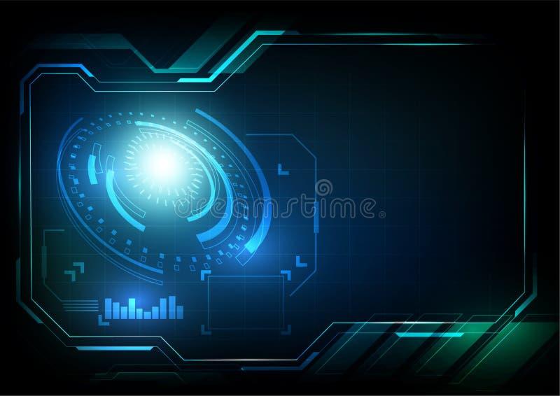 Relação abstrata do vetor da tecnologia imagem de stock