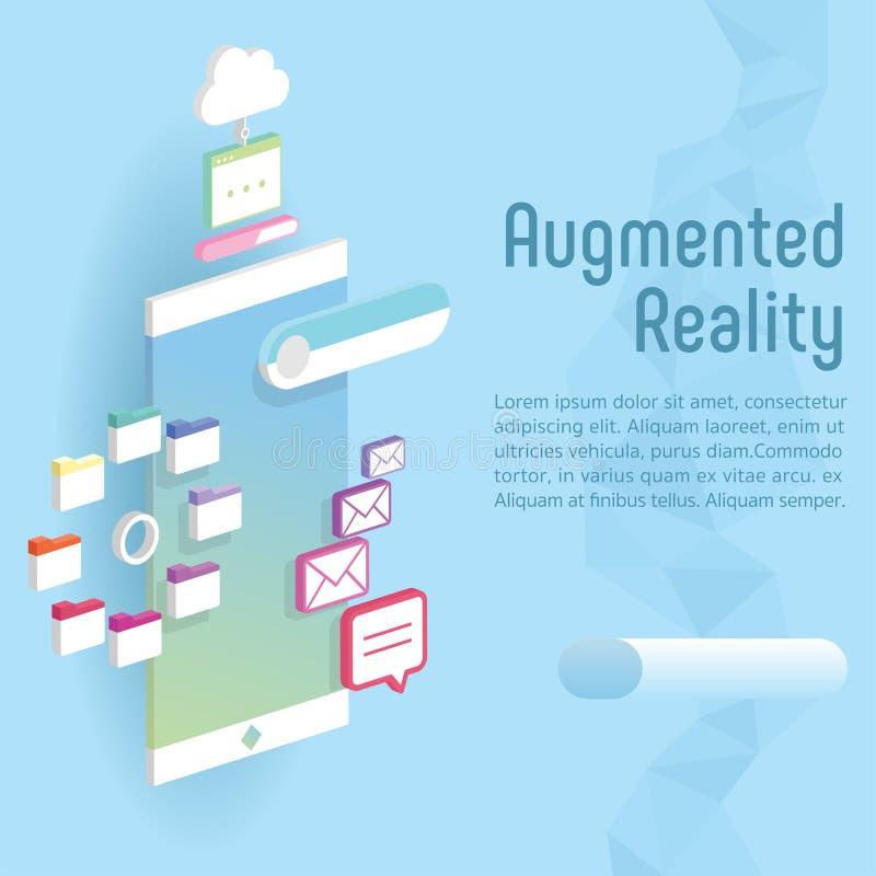 Relação aumentada da realidade 3d ilustração royalty free