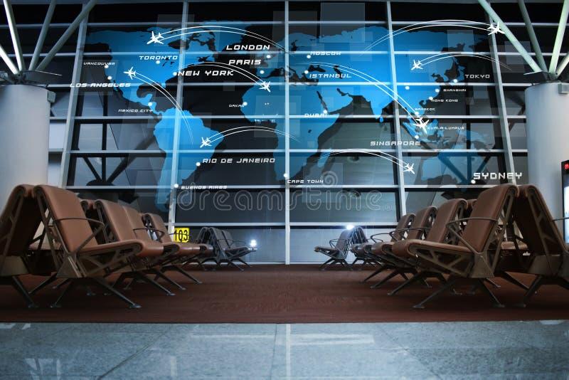 Relação da aviação no terminal fotos de stock royalty free