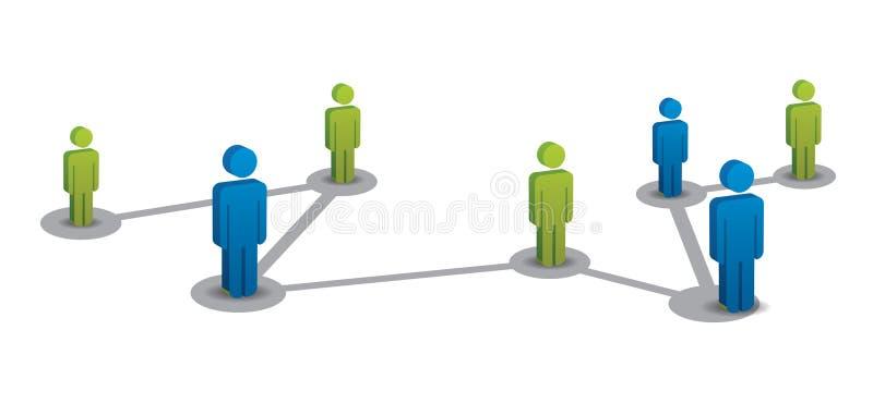 Relação de negócio ilustração stock