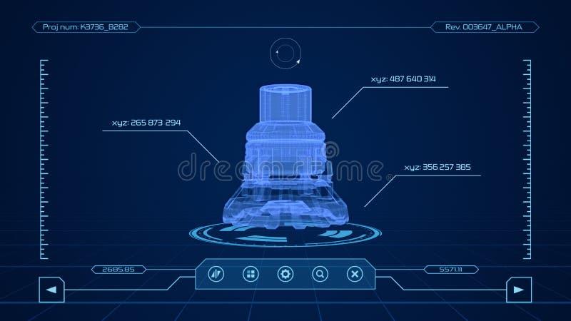 Relação de software do Cad ilustração stock