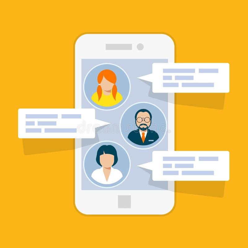 Relação do bate-papo de Sms - mensagens curtos ilustração royalty free
