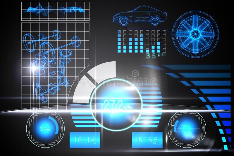 Relação do carro da tecnologia ilustração royalty free